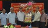 Meilleurs vœux du Têt à des unités des forces armées de Hô Chi Minh-Ville