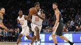 NBA: le meneur français des New York Knicks Frank Ntilikina sort sur blessure