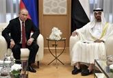 Le prince héritier d'Abou Dhabi rencontre le président russe Vladimir Poutine