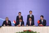 Singapour et la Chine signent neuf accords de coopération