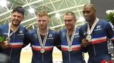 Piste : bronze européen pour l'équipe française de vitesse masculine