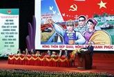 Nam Dinh : réunion bilan des dix ans de l'édification de la Nouvelle ruralité