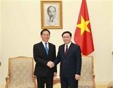 Le-PM Vuong Dinh Huê reçoit un dirigeant de la province chinoise du Yunnan
