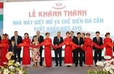 Inauguration de l'usine de transformation de la volaille Viet Avis à Thanh Hoa
