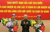 Deux nouveaux officiers vietnamiens en mission au Soudan du Sud