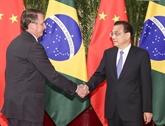 Le Premier ministre chinois rencontre le président brésilien à Beijing