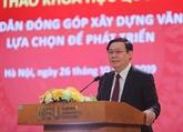 Développement : le Vietnam doit trouver son propre chemin, selon Vuong Dinh Huê