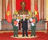 Le président nomme deux nouveaux généraux de corps d'armée
