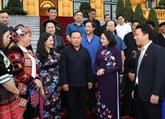La vice-présidente vietnamienne reçoit des minorités ethniques de Hà Giang