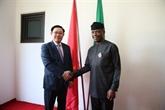 Entretien entre le vice-Premier ministre Vuong Dinh Huê et le vice-président nigérian