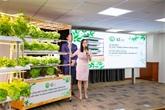 Une start-up conçoit une étagère à légumes intelligente