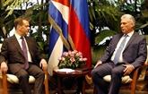 Le président cubain rencontre le Premier ministre russe pour les relations bilatérales