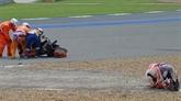 MotoGP : lourde chute de Marc Marquez aux essais en Thaïlande