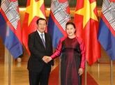 La présidente de l'AN vietnamienne rencontre le PM cambodgien