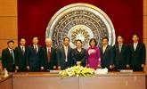 La présidente de l'AN, Nguyên Thi Kim Ngân, rencontre des ambassadeurs vietnamiens à Hanoï