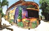 La beauté des fresques du village de Canh Duong à Quang Binh