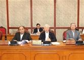 Le Politburo examine certains projets relatifs à la lutte contre la corruption