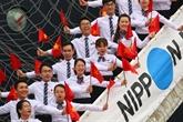 Le bateau de la jeunesse d'Asie du Sud-Est à Hô Chi Minh-Ville