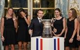 Victoire française en Fed Cup : Emmanuel Macron salue de