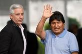 Arrivée de lancien président bolivien Evo Morales au Mexique