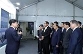 Nguyên Xuân Phuc assiste à la cérémonie de mise en chantier de la ville intelligente à Busan