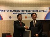 Le Vietnam et la R. de Corée ont convenu de promouvoir les relations économiques, commerciales et d'investissement