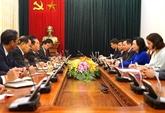 Renforcement des relations entre Hanoï et Vientiane