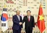 Le PM Nguyên Xuân Phuc rencontre le président de l'Assemblée nationale sud-coréenne