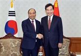 Le PM Nguyên Xuân Phuc rencontre son homologue sud-coréen