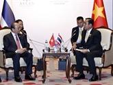 Sommet de l'ASEAN : le PM rencontre des dirigeants étrangers