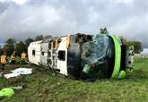 Somme : 33 blessés, dont quatre graves, dans un accident d'autocar sur l'A1