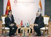 Le Premier ministre rencontre son homologue indien