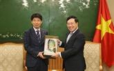 Le vice-PM et ministre des AE, Pham Binh Minh, reçoit le gouverneur de Gunma