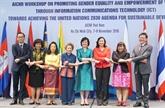 Promotion de l'égalité des sexes et de l'autonomisation des femmes grâce aux TIC