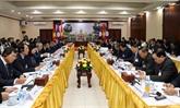 Le vice-Premier ministre Truong Hoà Binh en visite de travail au Laos