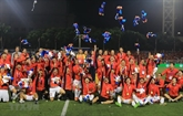 Football : l'équipe vietnamienne, champion des 30es SEA Games