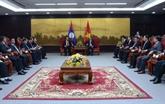 Visite d'une délégation de l'Assemblée nationale du Laos à Dà Nang
