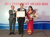 LUniversité de Cân Tho reçoit le prix dhonneur du président de la JICA