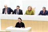 La présidente de l'AN à une séance plénière de la Chambre haute russe