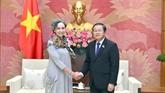 Le vice-président de l'AN, Dô Ba Ty, recoit l'ambassadrice du Mexique au Vietnam