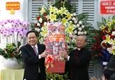Le président du CC du FPV formule ses vœux de Noël aux catholiques à Cân Tho