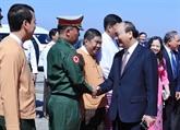 Le PM Nguyên Xuân Phuc termine sa visite officielle au Myanmar