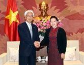 La présidente de l'AN reçoit une délégation de la Chambre des conseillers du Japon