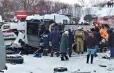 Russie : un bus chute dans une rivière gelée en Sibérie, 19 morts