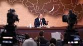 Poutine débat des questions lors de sa conférence de presse