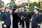 La présidente de l'AN se rend au commandement de la Zone militaire No3