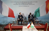 Économie et affaires militaire au programme de Macron à Bouaké et Niamey
