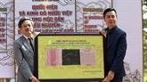 Exposition de tablettes de bois de la dynastie des Nguyên à Dà Lat