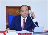 Conversation téléphonique entre Nguyên Xuân Phuc et Dmitri Medvedev