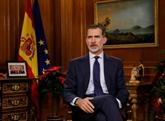 Le roi d'Espagne appelle à l'unité du pays